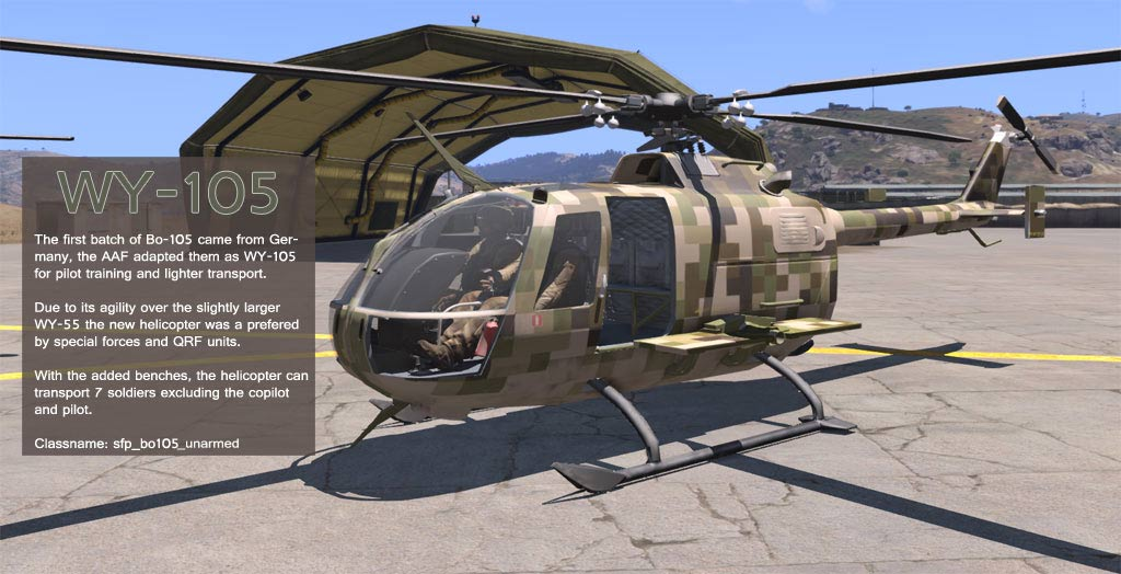 Bo-105 Helicopter - ARMA 3 - ADDONS & MODS: COMPLETE - Bohemia
